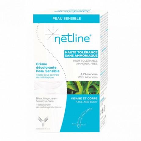NETLINE Crème décolorante peau sensible visage et corps 30ml