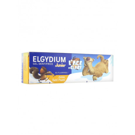 ELGYDIUM Gel dentifrice junior l'age de glace 50ml