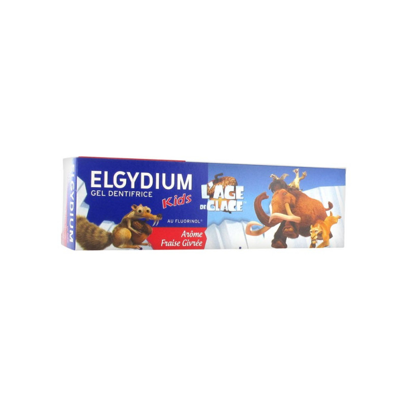 ELGYDIUM Gel dentifrice kids l'age de glace 50ml