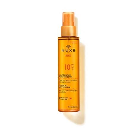 NUXE huile bronzante visage et corps SPF10 150ml