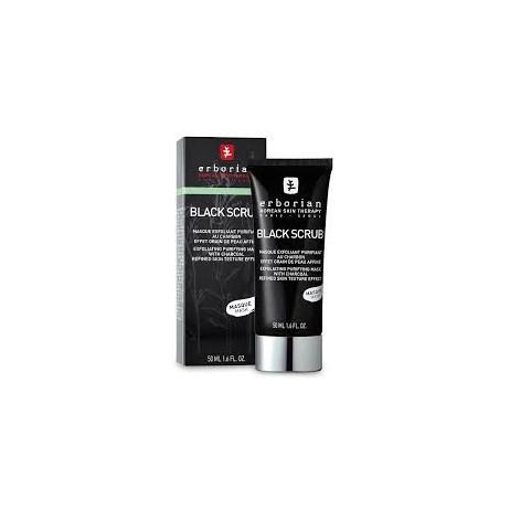 ERBORIAN black scrub masque exfoliant purifiant au charbon 50ml