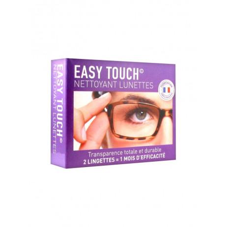 EASY TOUCH Nettoyant lunettes 2 lingettes+1microfibre