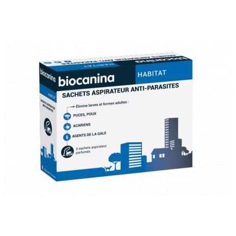 BIOCANINA sachets aspirateur anti-parasites boite de 3 sachets