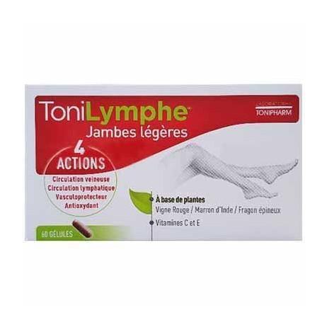 TONIPHARM Tonilymphe 4 actions jambes légères 60 gélules.