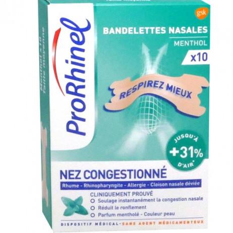 ProRhinel Bandelettes nasales Nez congestionné