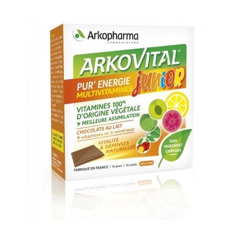 ARKOPHARMA Arkovital junior vitalité et défenses naturelles 15 carrés à croquer
