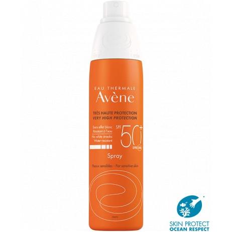 AVENE Très haute protection SPF50+ spray peaux sensibles 200ml