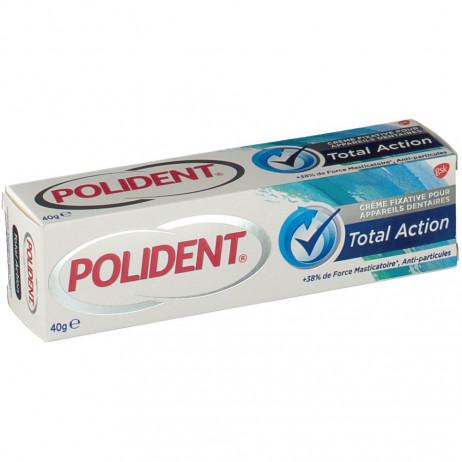 POLIDENT Total Action crème fixative pour appareils dentaires 40g