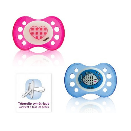DODIE Sucette anatomique silicone nuit +6 mois