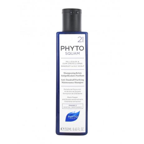 PHYTO Squam 2 Pellicules et cuire chevelu gras Shampooing relais 250 ml