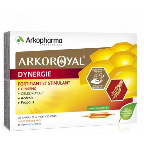 ARKOPHARMA Dynergie ampoules 20x15ml goût orange