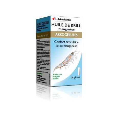 ARKOPHARMA Huile de krill manganèse 30 gélules