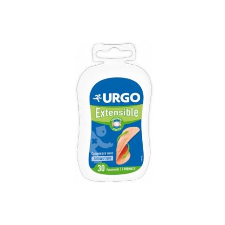 URGO Extensible pansements avec compresses antiseptique 2 formats