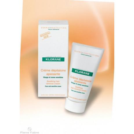 KLORANE crème dépilatoire apaisante visage et zones sensibles 75ml