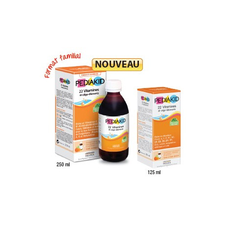 PEDIAKID 22 vitamines et oligo-éléments 125ml