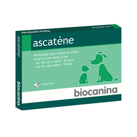 BIOCANINA Ascatène vermifuge x10 comrpimés