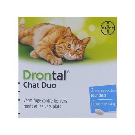 BAYER Drontal chat duo vermifuge x2 comprimés