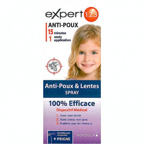 EXPERT 1 2 3 Anti-poux et lentes spray 200ml
