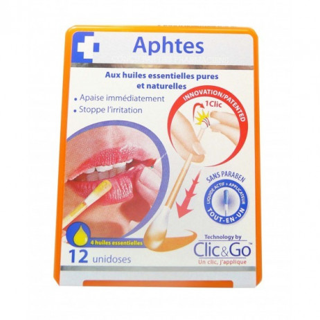 CLIC AND GO Aphtes x12 unidoses