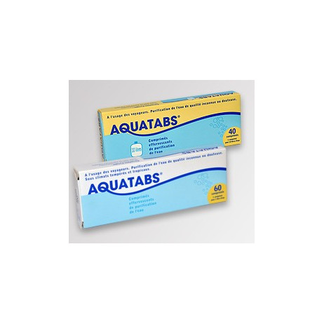 AQUATABS comprimés effervescents de désinfection de l'eau