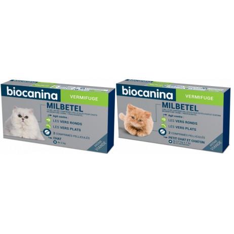 BIOCANINA Milbetel vermifuge chat 2 comprimés
