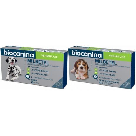 BIOCANINA Milbetel vermifuge chien 2 comprimés