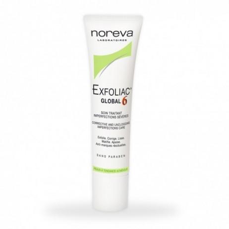 NOREVA Exfoliac global 6 soin traitant imperfections sévères 30ml