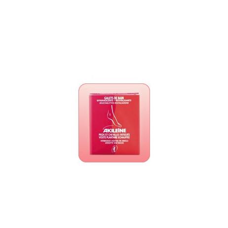 AKILEINE Ligne rouge galets de bain 6x20g