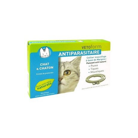 VETOFORM Collier anti-parasitaire chatons et chats