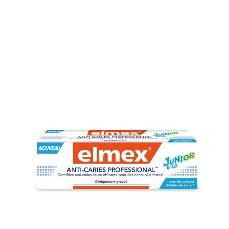 ELMEX Dentifrice anti-caries professional junior 6-12 75ml
