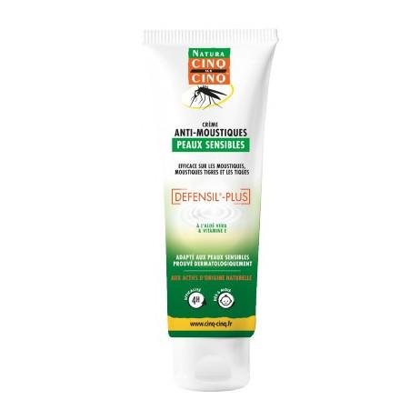 CINQ SUR CINQ Natura crème anti-moustiques peaux sensibles 100ml