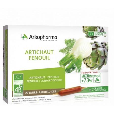 ARKOPHARMA Artichaut fenouil ampoules 20X10ml