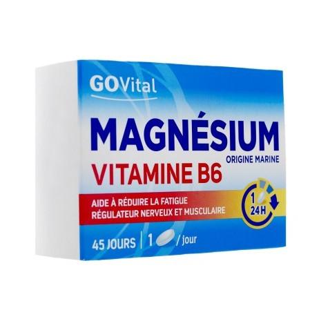 GOvital Magnésium B6 45 jours / 45 comprimés